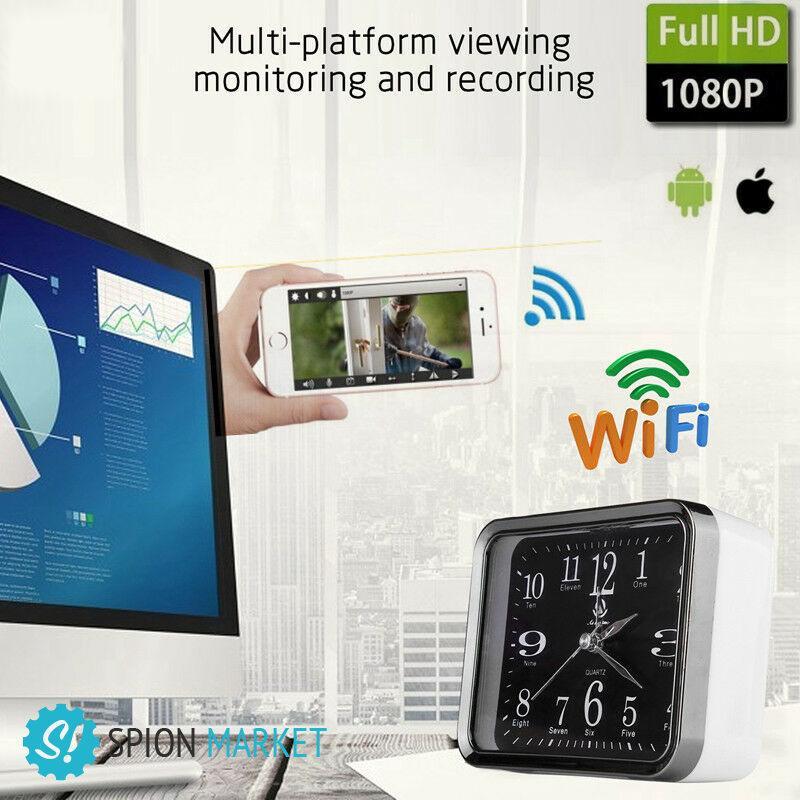 Настольные шпионские часы с wifi камерой купить