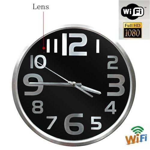 Настенные часы с wi-fi мини камерой