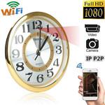 Настенные шпионские часы - wifi FHD камера